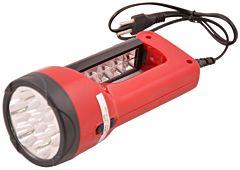 Lanterna reincarcabila LED cu acumulator Erste, autonomie 4-6 ore, 203 x 90 mm, Rosu/Negru