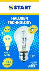 Bec halogen Eco 70W E27, Start