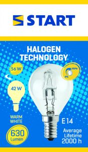 Bec halogen Eco picatura 42W E14, Start