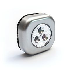 Lampa de veghe patrata Flink, autoadeziva, 3 LED-uri, 3 baterii AAA, 70x24mm