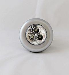 Lampa de veghe rotunda Flink, autoadeziva, 3 LED-uri, 3 baterii AAA, 68x25mm