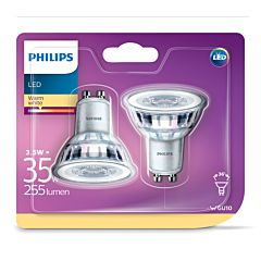 Set 2 becuri LED spot R GU10 35W 2700K 240L, Philips