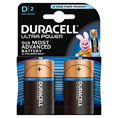 Set x 2 baterii D LR20 Ultra Power, Duracell