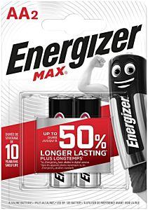 Set 2 baterii Energizer Alcaline MAX R6/AA