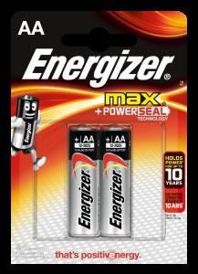 Set x 2 baterii Energizer Max Alkaline Power E91 LR6