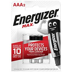 Set 2 baterii Energizer Alcaline MAX R03/AAA