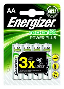 Set 4 baterii reincarcabile Energizer Power Plus AA/R6 2000mah