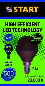 Bec LED mat cald P 6W E14, Start