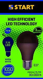 Bec LED mat A 11W E27, Start