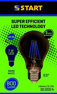 Bec LED filament A 7W E27, Start