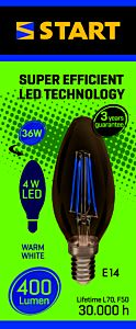 Bec LED filament clasic B 4W E14 , Start