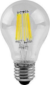 Bec LED A60 cu filament Total Green, 8W, soclu E27, 2700 K