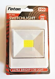 Lampa cu LED COB SX-A02 Foton, 3 W, plastic, Alb
