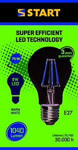 Bec LED filament clasic A 9W E27, Start
