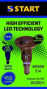 Bec LED reflector R50 5W E14, Start