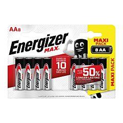 Set 8 baterii Energizer Alcaline MAX R6/AA
