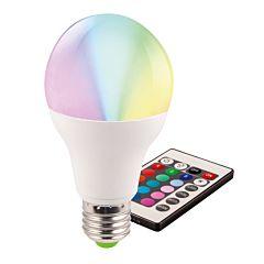 Bec LED A60 5W E27 RGB cu telecomanda inclusa