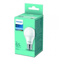 Bec led lumina alba rece echivalent 65W E27 Philips
