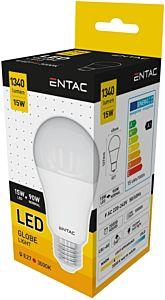 Bec tip glob LED Entac, E27, 15W, 1250 lumeni
