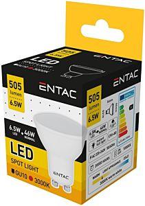 Bec LED spot GU10 Entac , 6.5W, wide angle, 505 lumeni
