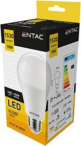 Bec tip glob LED Entac, E27, 18W, 1780 lumeni