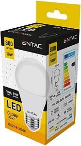 Bec LED tip glob Entac, E27, 10W, 800 lumeni