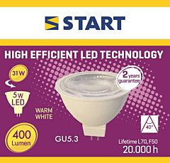 Bec interior LED GU 5.3 Start, 5 W, 400 lm