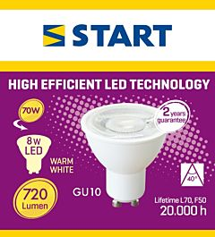 Bec interior LED GU10 Start, 8 W, 720 lm