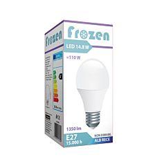 Bec LED Frozen, putere 14.8W, echivalent 110W, dulie E27, lumina rece, flux luminos 1250 lumeni