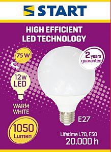 Bec interior LED MAT Globe G95 Start, 12 W, E27, 1050 lm
