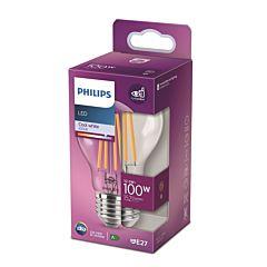 Bec LED classic Philips, 100W, E27, A60, 4000K
