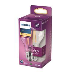 Bec LED classic Philips, 60W, A60, E27, 2700K