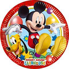 Set 8 farfurii party 20 cm Mickey