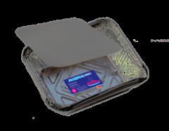 Caserola dreptunghiulara din aluminiu cu capac , set 4 bucati