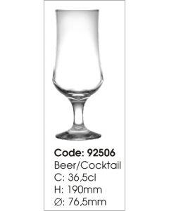 Set 6 pahare cu picior pentru bere Ariadne 36,5 cl