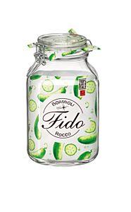 Borcan de depozitare ermetic F6 Fido, sticla, 3 L