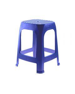 Taburet plastic, 47 cm, albastru