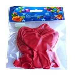 Set 15 baloane latex inima rosie 25 cm