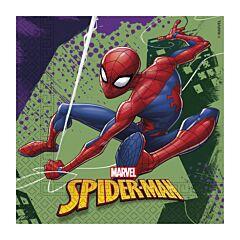 Set 20 servetele party Spiderman, 33 x 33 cm