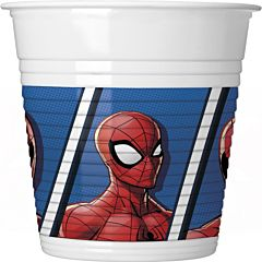 Set 8 pahare 200 ml party Spiderman