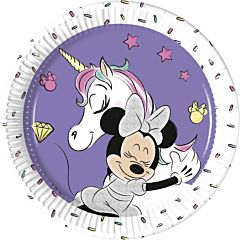 Set 8 farfurii party 20 cm Minnie