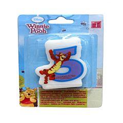 Lumanare cifra 5 Winnie The Pooh