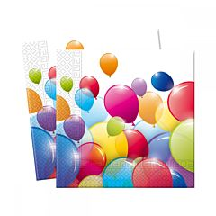 Set 20 servetele party baloane color, 33 x 33 cm