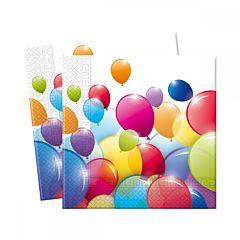 Set 20 servetele party baloane color, 33 x 33 cm