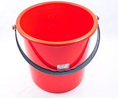 Galeata plastic, capacitate 10L, culoare rosu, Cyclops