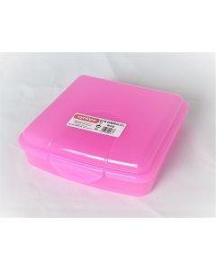 Cutie pentru sandwich, capacitate 0.5L, culoare roz, Cyclops