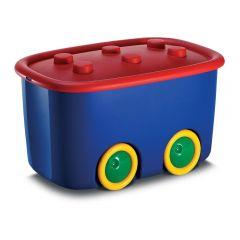 Cutie depozitare FUNNY BOX  46 L, rosu cu albastru