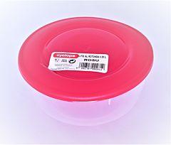 Cutie alimente rotunda, capacitate 0.55L, culoare rosu, Cyclops