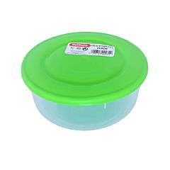 Cutie alimente rotunda, capacitate 0.55L, culoare verde, Cyclops