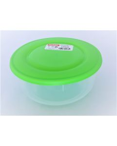 Cutie alimente rotunda, capacitate 1L, culoare verde, Cyclops